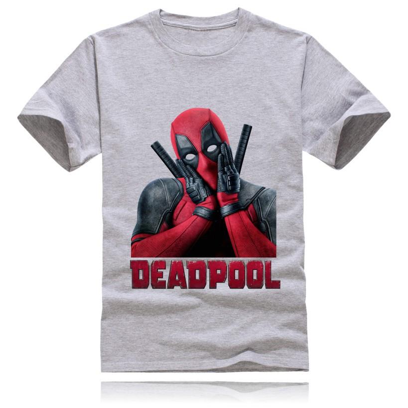 Camisa Algodão Transfer Deadpool Marvel Camiseta Manga Curta Gola Redonda
