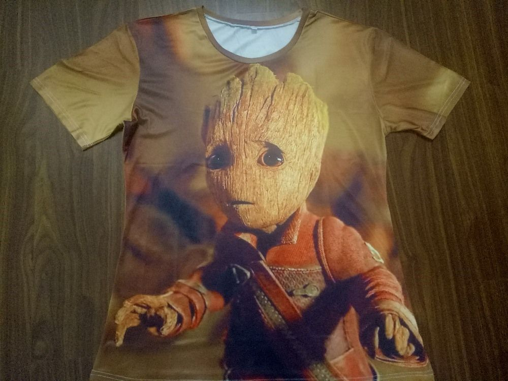 Camisa Camiseta do Bebê Groot Personagem do filme Guardiões da Galáxia