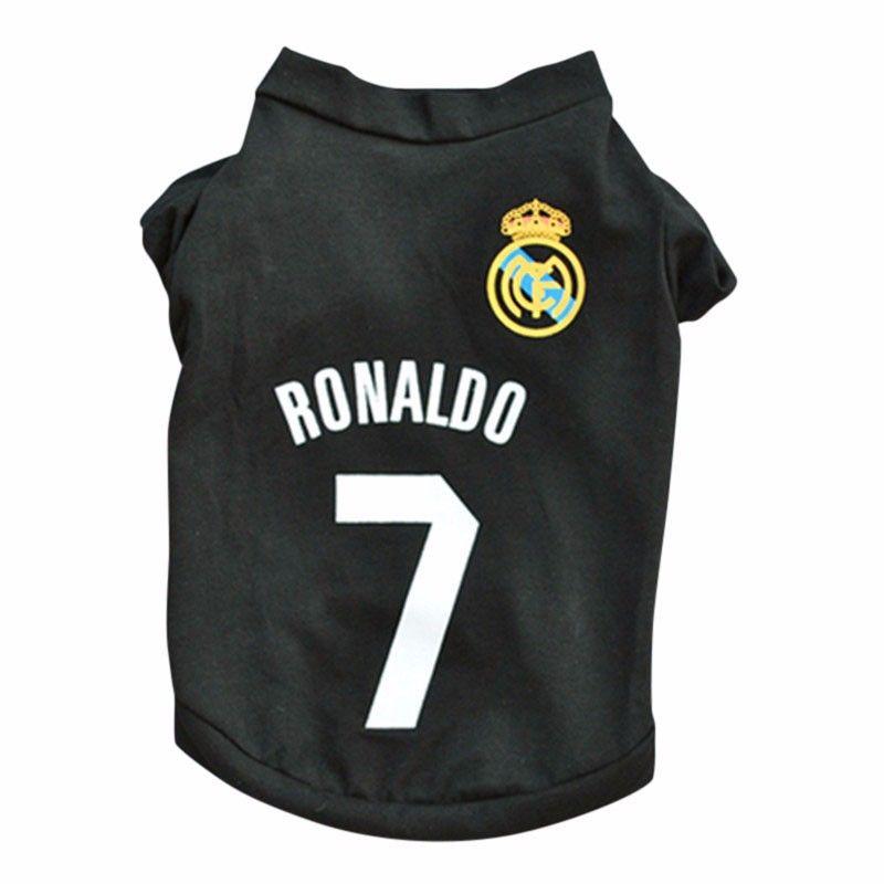Camisa Colete Cão Cachorro CR7 Ronaldo Real Madrid Futebol