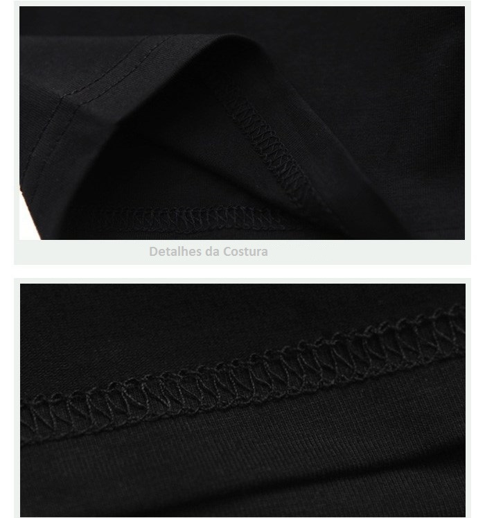 Camisa Estampa Lobo 3D Estilo Casual 100% Algodão