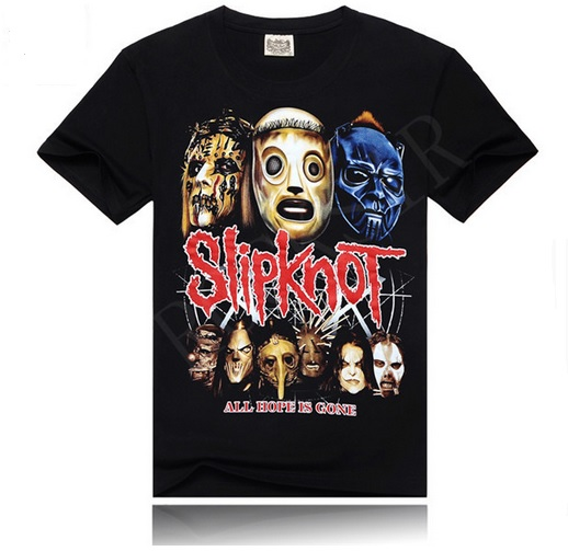 Camisa Rock SLIPKNOT Heavy Metal Algodão Casual