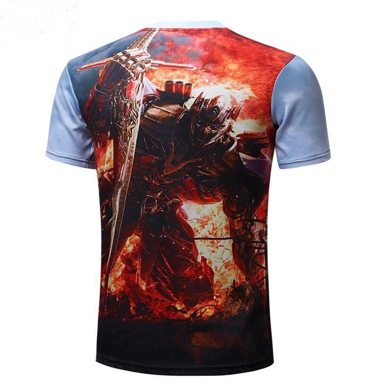 Camiseta camisa Transformers para homens camisas fitness