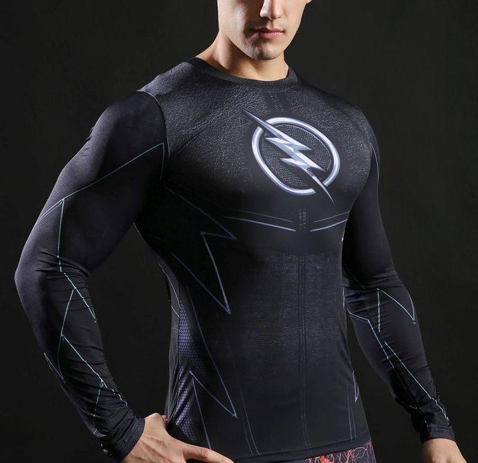 Camiseta Fitness Super heróis 3D Masculina Molda no Corpo Flash Capitão América Super Homen