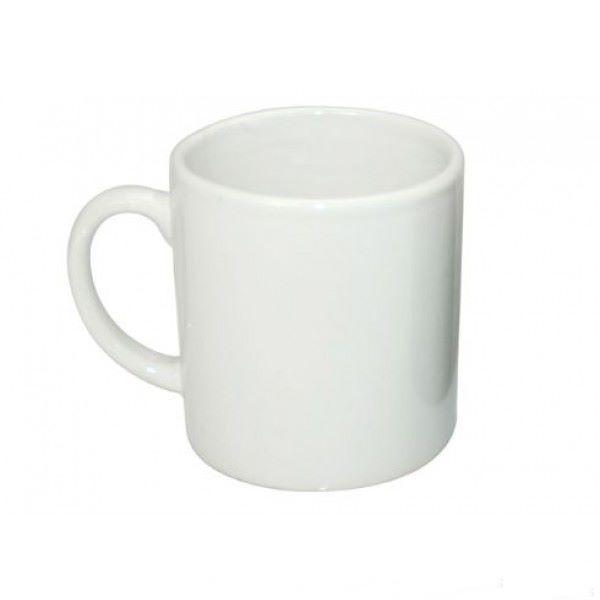 Caneca pequena Branca de Cerâmica ´Cafezinho´ 90ml Personalizada