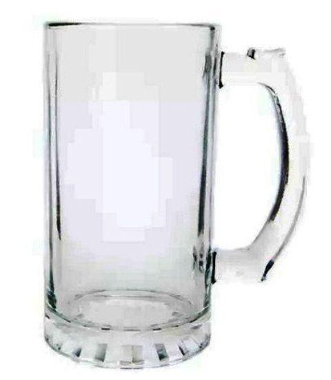 Caneca Chopp Vidro Transparente 475ml Personalizada