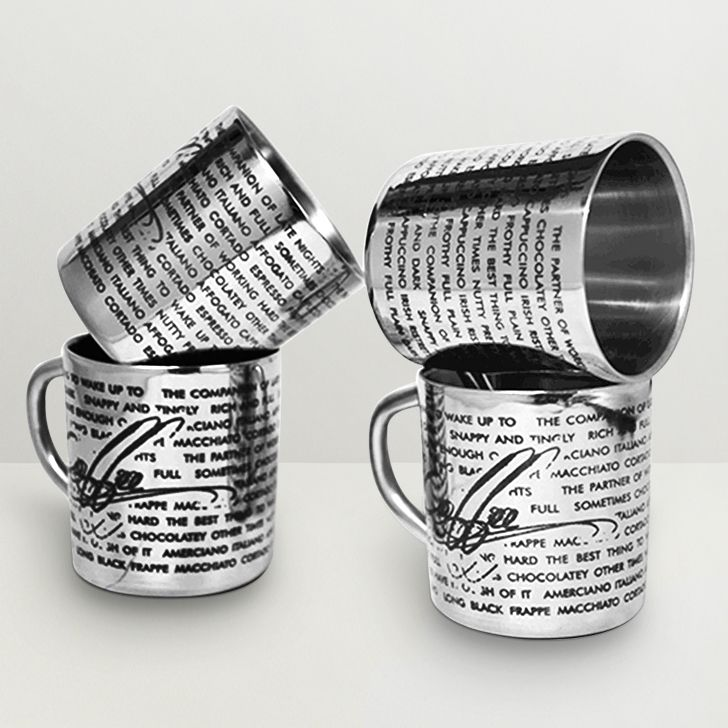 Caneca de Aço Inox 300ml Personalizada - 20 unidades