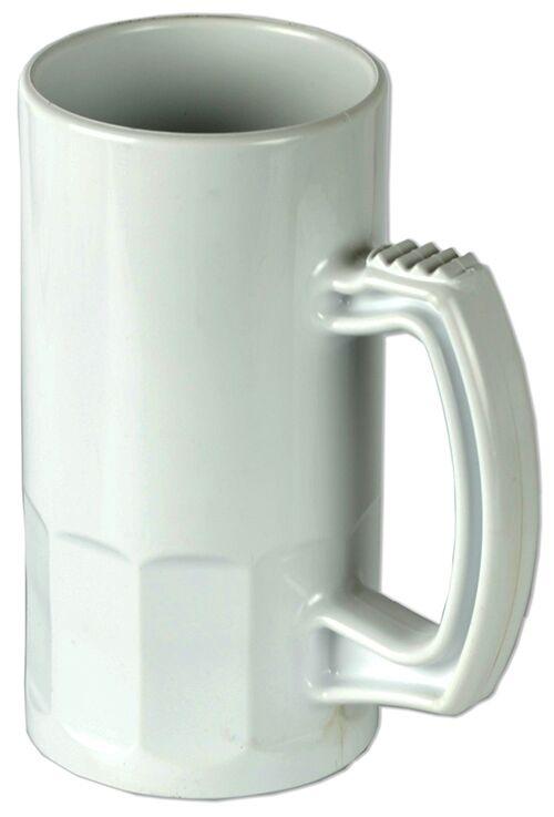 Caneca de Chopp Plástica Premium Branca 350ml Personalizada