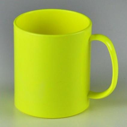 Caneca de Plástico Amarela  320ml Personalizada