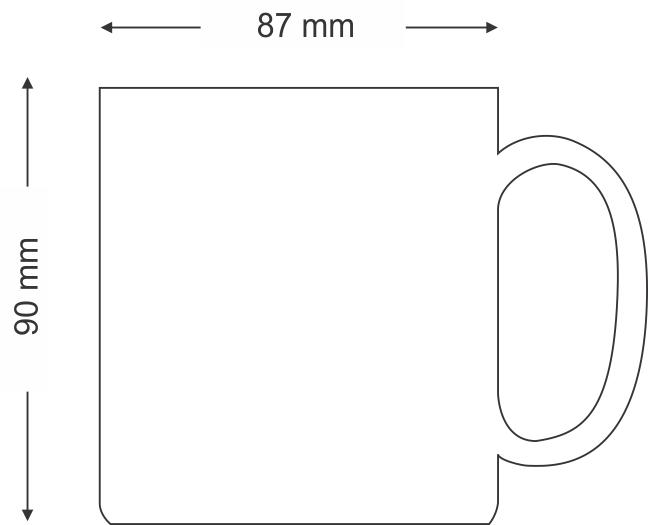 Caneca de Vidro Fosca Modelo ASPEN 300ml Personalizada