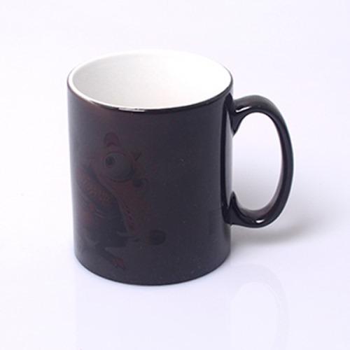 Caneca Mágica Cerâmica Preta 325ml Personalizada