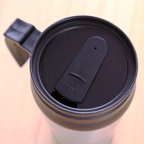 Caneca Térmica Alumínio 500ml para Carro Personalizada tampa preta