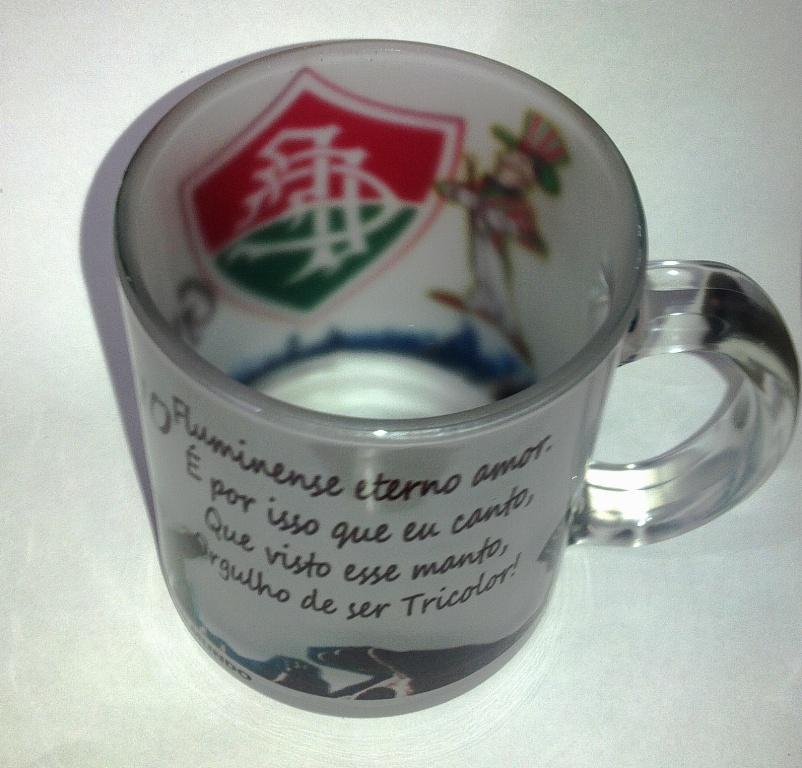 Caneca Vidro Fosca 325ml Personalizada seu logo escudo