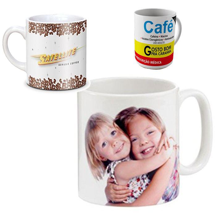 Canecas para Café 3 capacidades 90ml - 180ml - 325ml