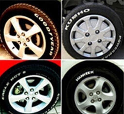 Caneta pintura permanente pneu de carro moto impermeável tunning