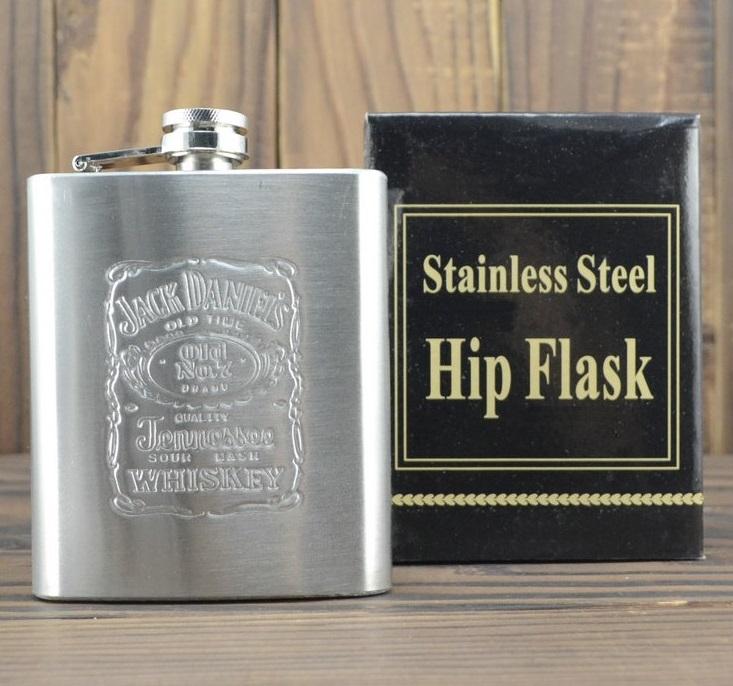 Cantil em Aço Inoxidável Jack Daniels Portátil garrafa de bolso para bebidas