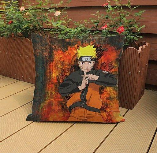 Capa de Almofada Almofadas Anime Manga Naruto 45x45cm para Sofá