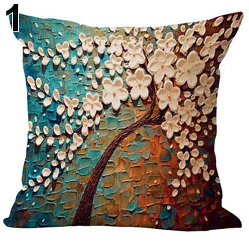 Capa de Almofada Árvore Floral Florida Primavera Sofá