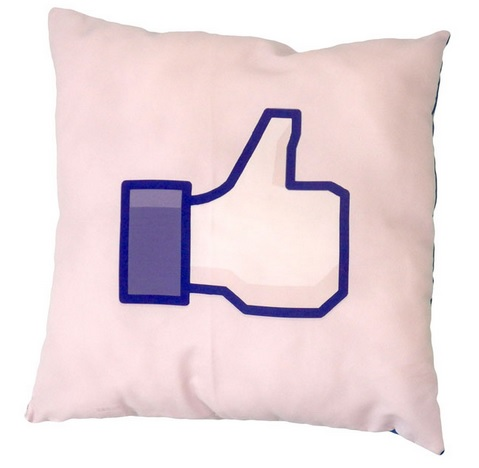 Capa de Almofada Facebook Curti personalizada com foto