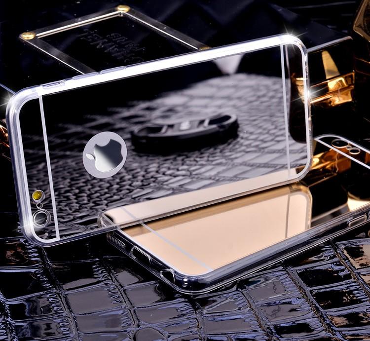 Capa de Celular de Luxo efeito Espelho TPU Claro para iphone 5 5s case