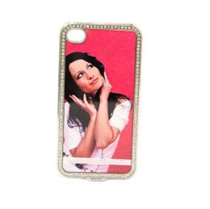 Capa de Proteção para iPhone com Brilhantes de Plástico Personalizada