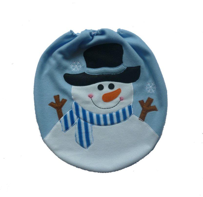 Capa do Assento Vaso Sanitário Decoração Natal Natalina Papai Noel