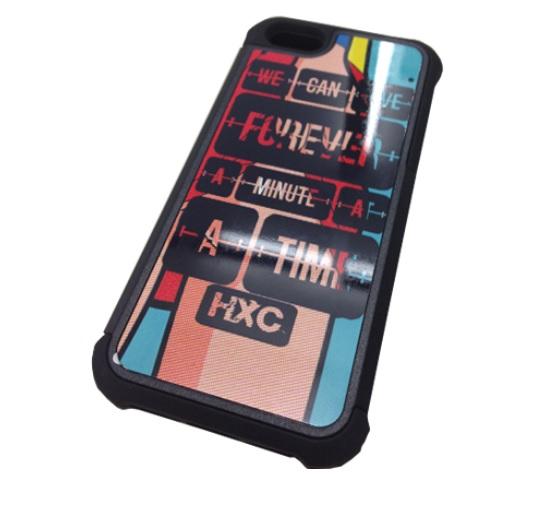 Capa para Iphone 5/5S 2 em 1 Plástico + Borracha Personalizada