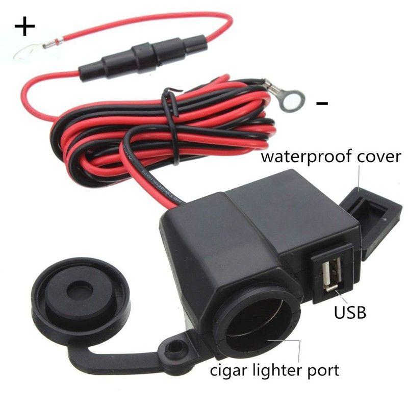 Carregador de celular USB Acendedor de Cigarro à Prova d'água para motocicleta