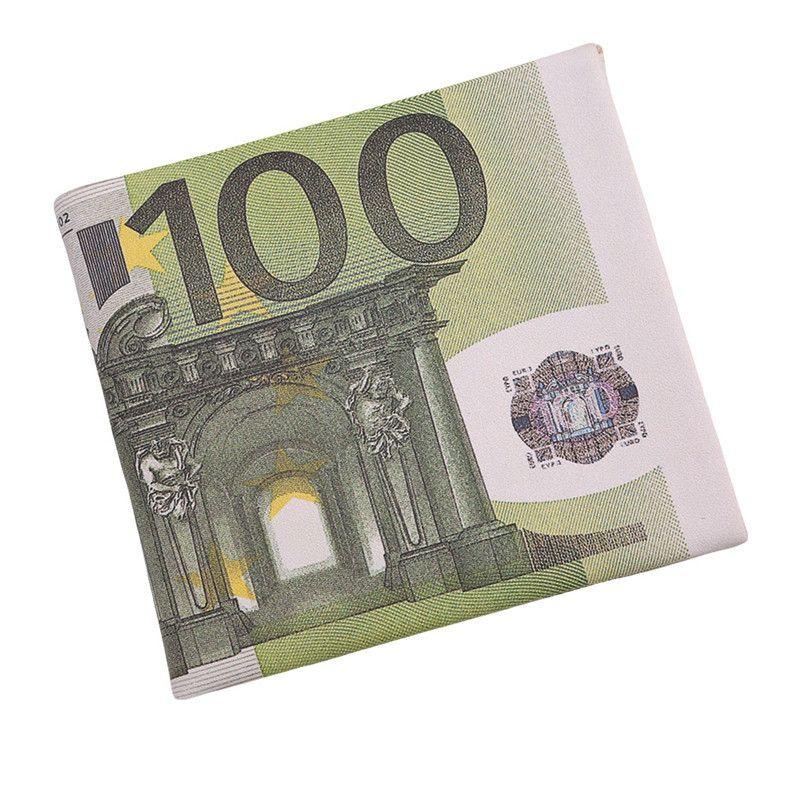 Carteira de Dinheiro Nota de 100 Euro Bolso para Homens