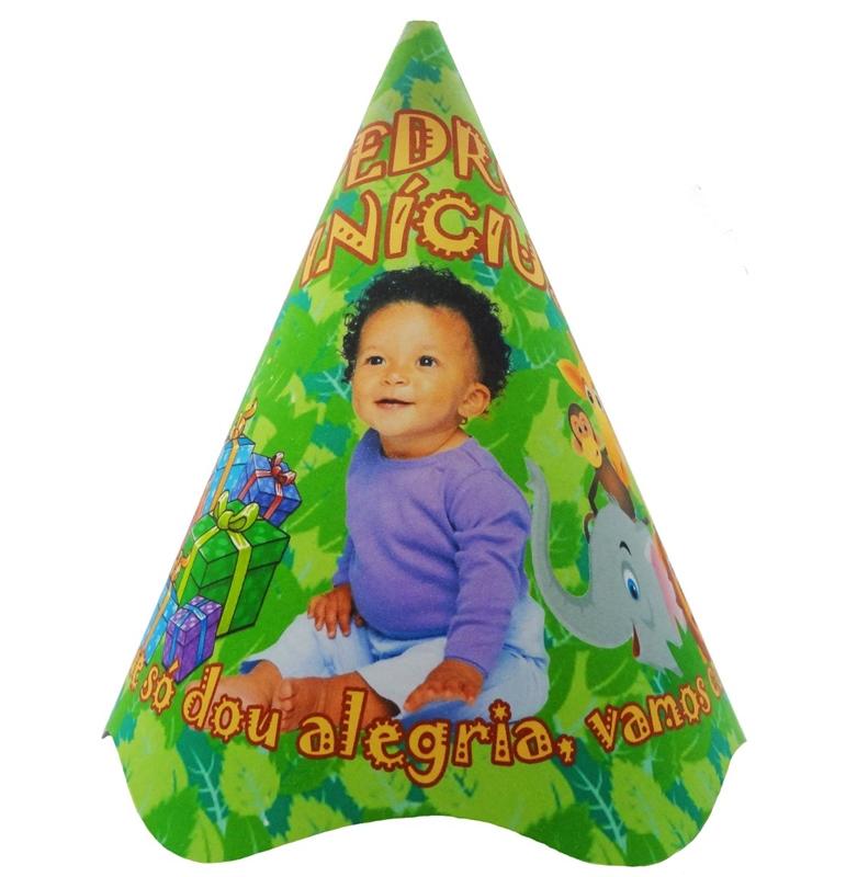 Chapéu de Aniversário Cartonado Personalizado 10 unid