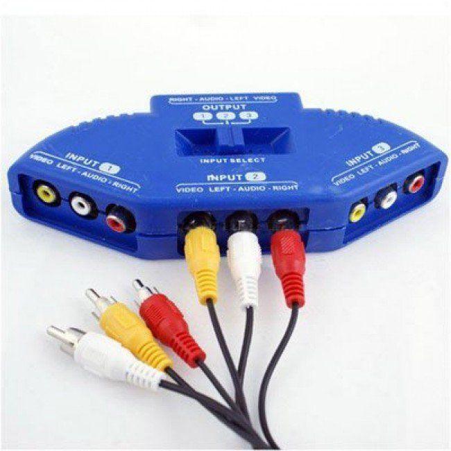 Chaveador RCA AV Áudio e Vídeo Xtrad Videogame  com chave seletora