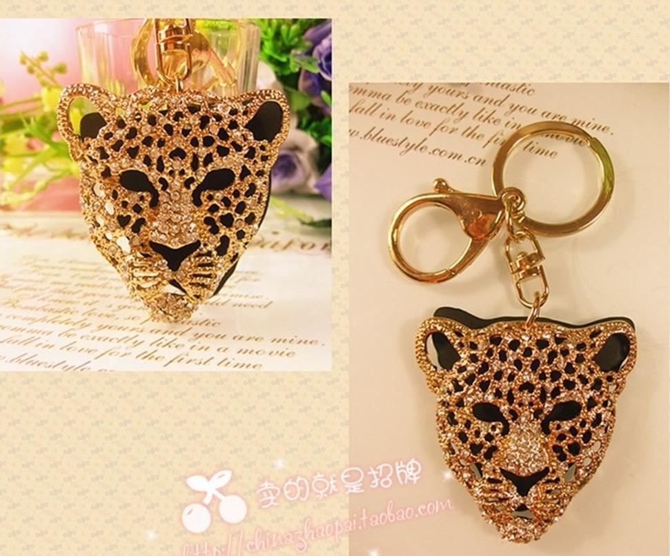 Chaveiro animal Leopardo para Mulheres feminino metal