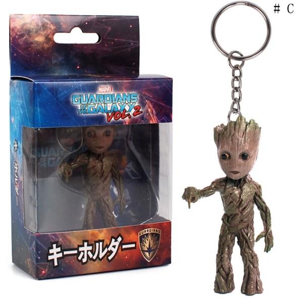Chaveiro Baby Groot dos Guardiões da Galáxia corrente e Boneco