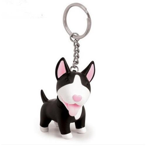 Chaveiro Cachorro Cão Brinquedo com Sino Corrente para Chave ou bolsa