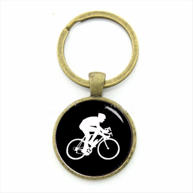 Chaveiro Ciclista Silhueta Esportes de Lazer Ciclismo Bicicleta