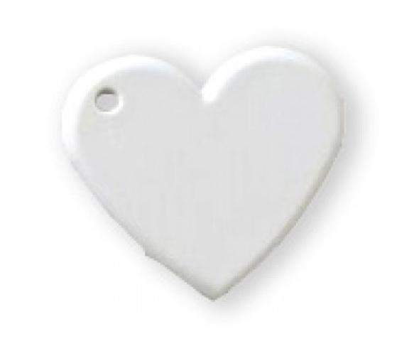 Chaveiro Coração 2 unid em Plástico Personalizado com foto Frente e Verso