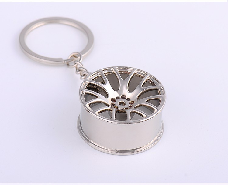 Chaveiro criativo cubo de roda Design de Luxo metal para Chave do Carro