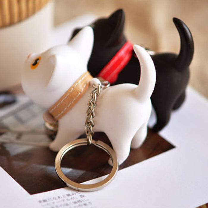 Chaveiro Gato Gatinho Amante de Felinos Brinquedo com Sino Corrente para chave e para bolsa