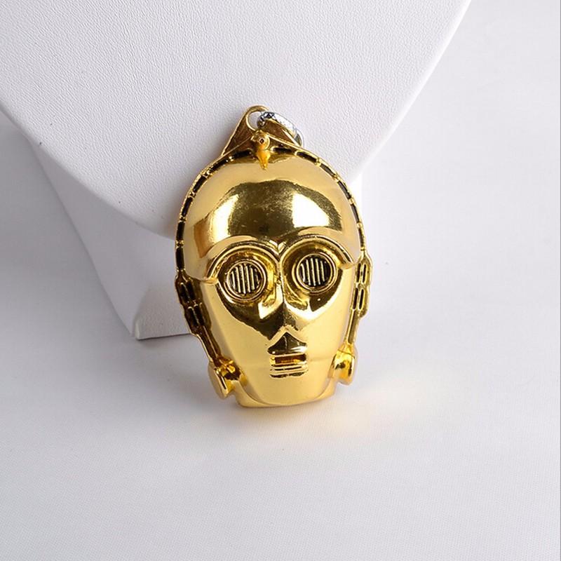 Chaveiro Máscara C-3PO do Filme Star Wars Capacete