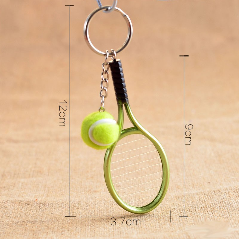 Chaveiro Pingente Mini Raquete de Tênis Esporte bonito
