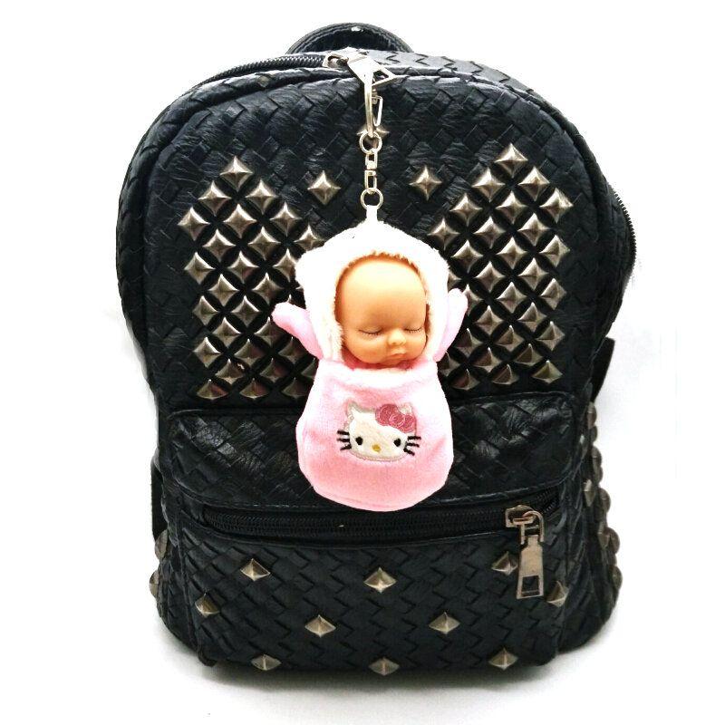 Chaveiro Pompom Boneca Bebê no Saco de Dormir