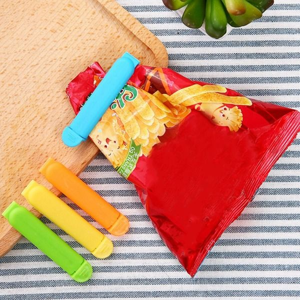 Clips Vedação de Saco de Alimentos Biscoitos 10 unidades/pacote 7cm