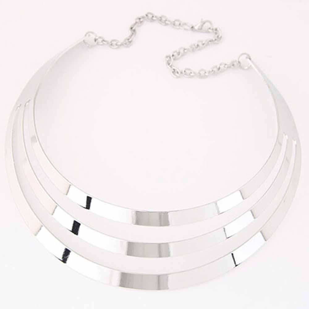 Colar Cordão Lindo Metal Multi Camada para Mulheres Fashion Elegante