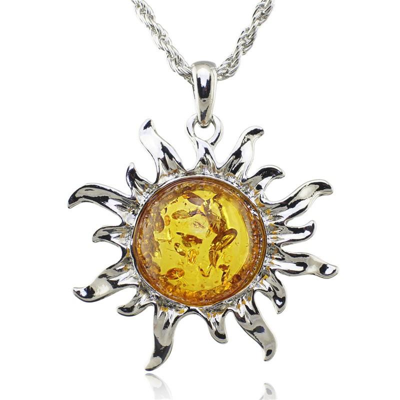 Colar Cordão Pingente Sol Cor Prata da Sorte Tibet Jóias