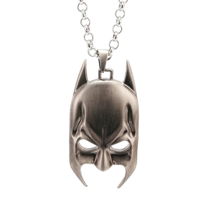 Colar Pingente Face do Batman Série Super Herói Comics HQ