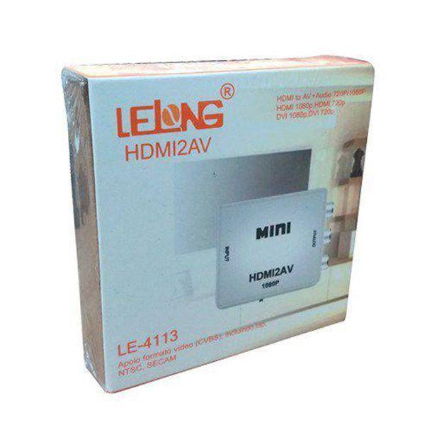 Conversor Multimídia HDMI para AV RCA Lelong