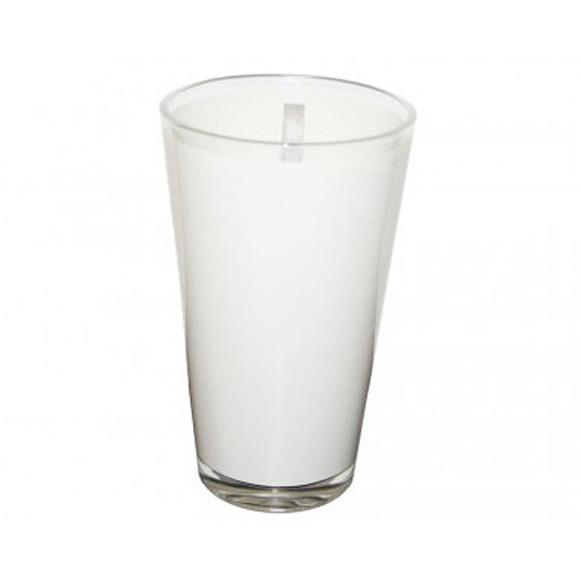 Copo de Vidro Cônico 500ml com Tarja Branca Personalizado