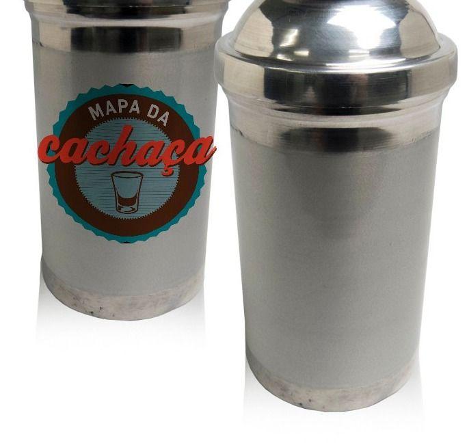 Coqueteleira em Alumínio para Drinks Caipirinha Cocktail Barman Personalizada