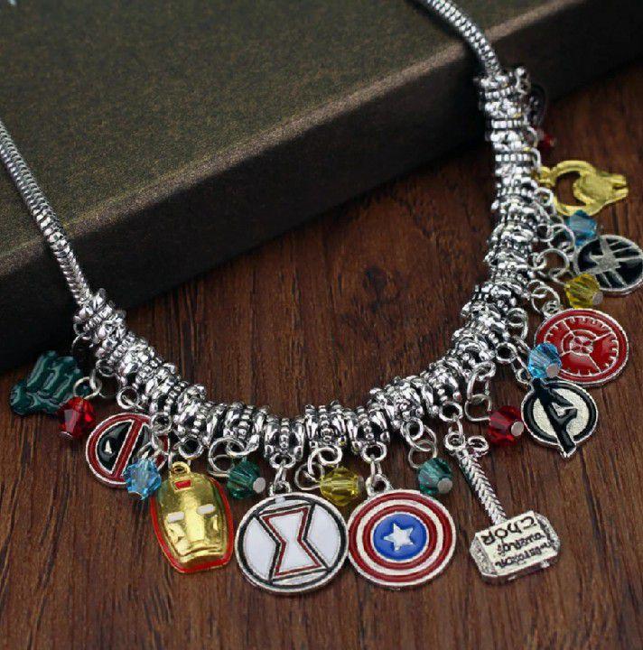 Cordão Escudo Vingadores Capitão América Homem De Ferro Martelo do Thor Deadpool Hulk