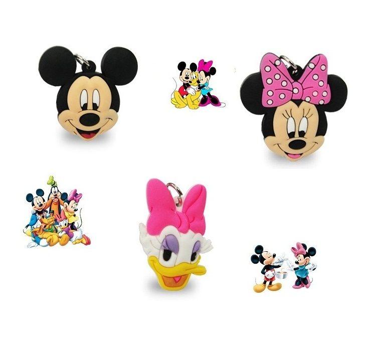 Cordão Longo Pingente Mickey Minnie Margarida dos Desenhos Disney