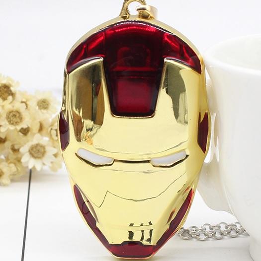 Cordão Máscara Filme Homem de Ferro Colar com Pingente